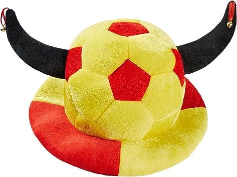 dressforfun 302057 Sombrero futbolero de España con Cuernos ...