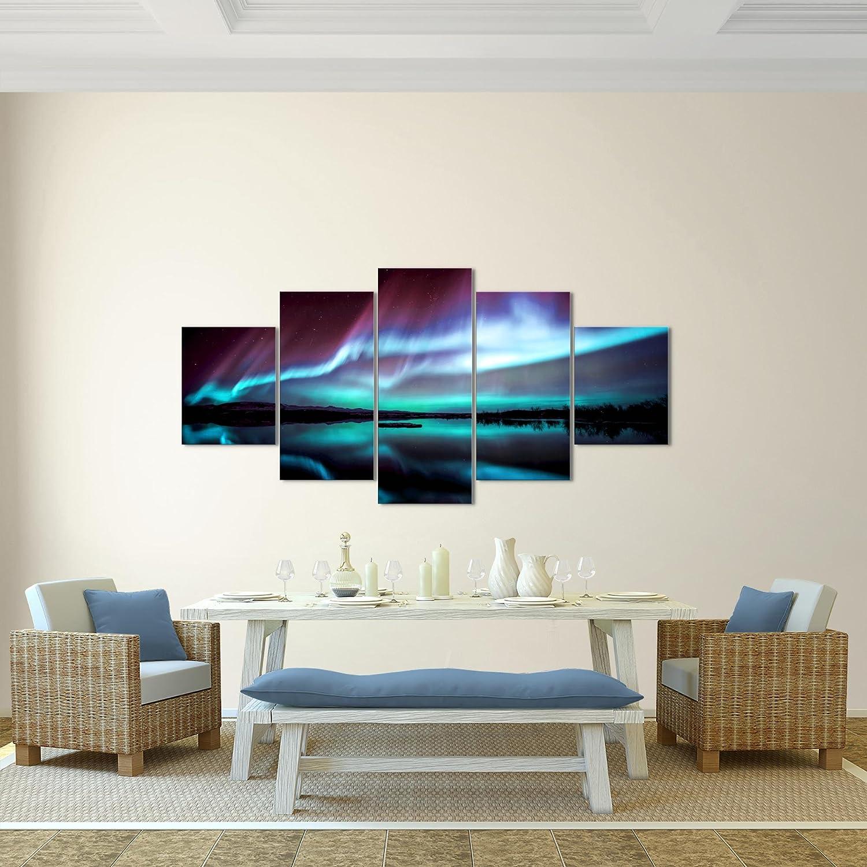 prestigeart Bilder Polarlicht Wandbild 200 x 100 cm Vlies - Leinwand ...