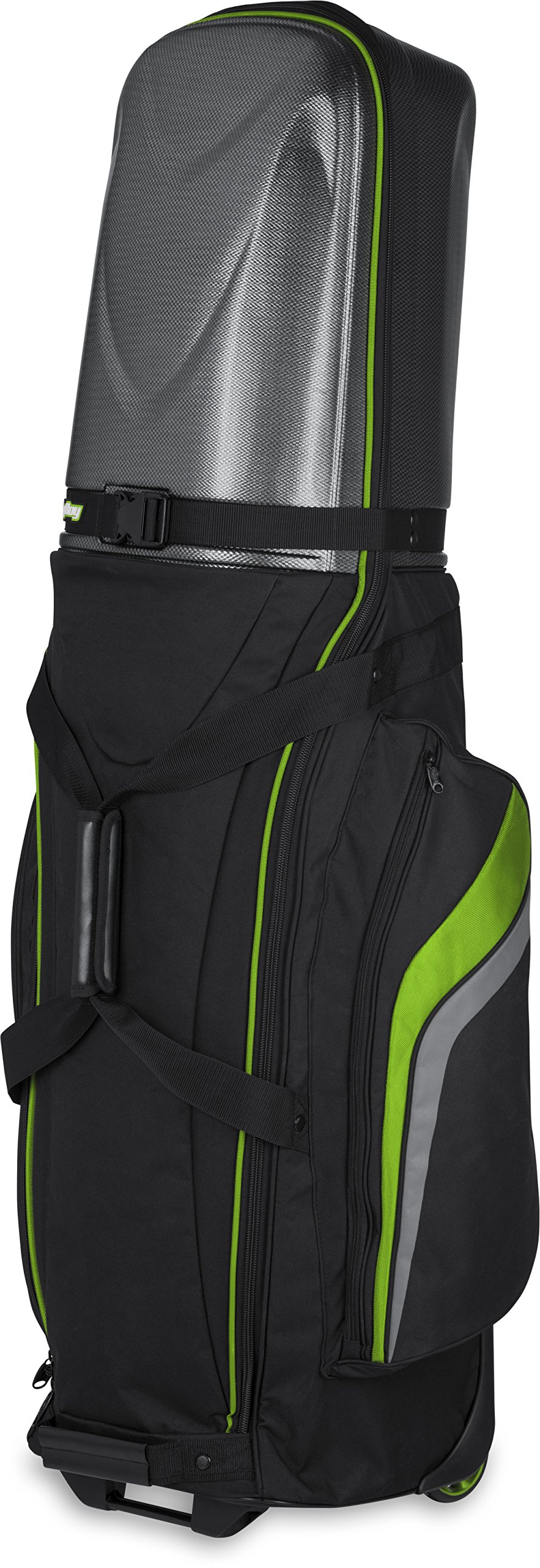 Bag Boy Golf T-10 Hard Top Travel Cover (Black/Lime/Charcoal, ) by Bag Boy