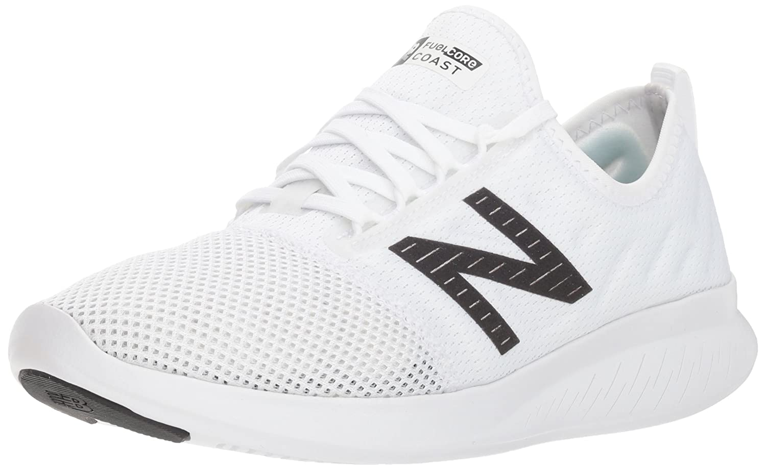 New Balance Women's Coast V4 FuelCore Running Shoe B075R7DHKG 5 D US|White/Black