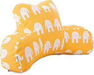 Majestic Home Goods Ellie Reading Pillow, Yellow