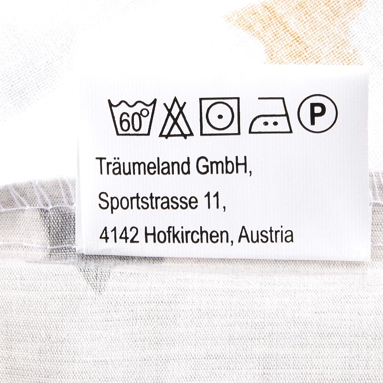 mehrfarbig weicher Baumwolle Design Sternentraum gelb Tr/äumeland TT19201 Ausstattungs-SET 3-teilig: Bettw/äsche aus feinster