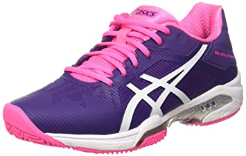 Asics Gel Solution Speed 3 Clay, color morado,rosa, talla UK-8