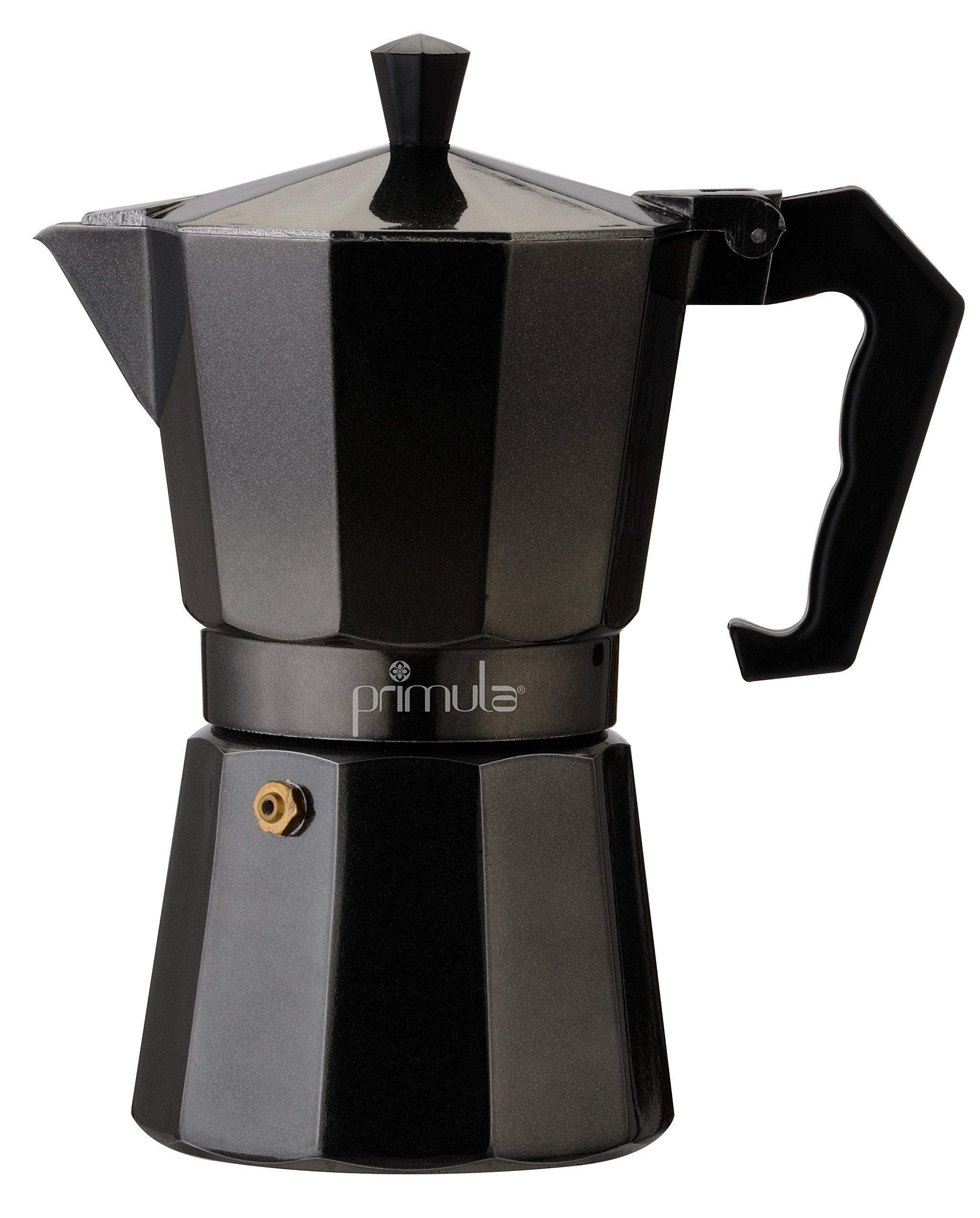Primula PEBK-3306 6-Cup Aluminum Espresso Coffee Maker, Black
