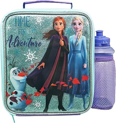 Disney Girls Frozen 4 Pc Set Backpack Lunch Kit, Water Bottle /& Squishy Ball