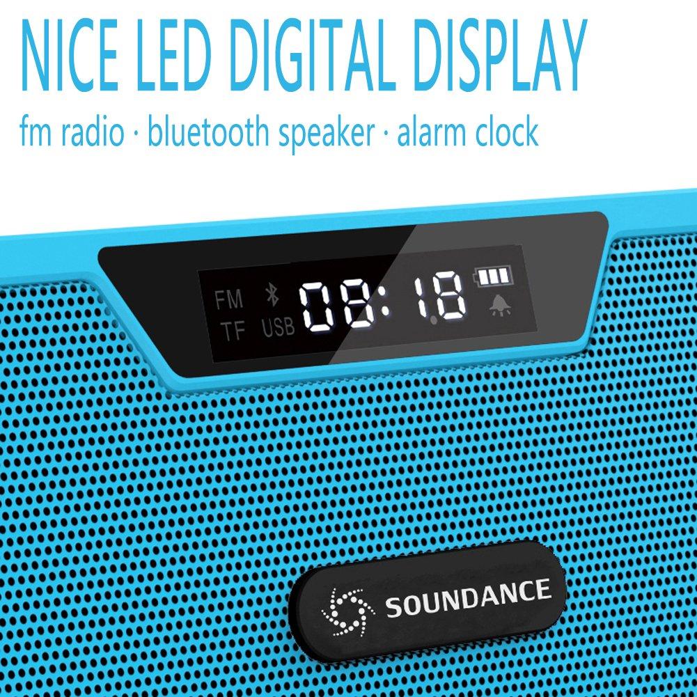 Amazon.com: Soundance Wireless Bluetooth Speaker FM Radio Alarm ...