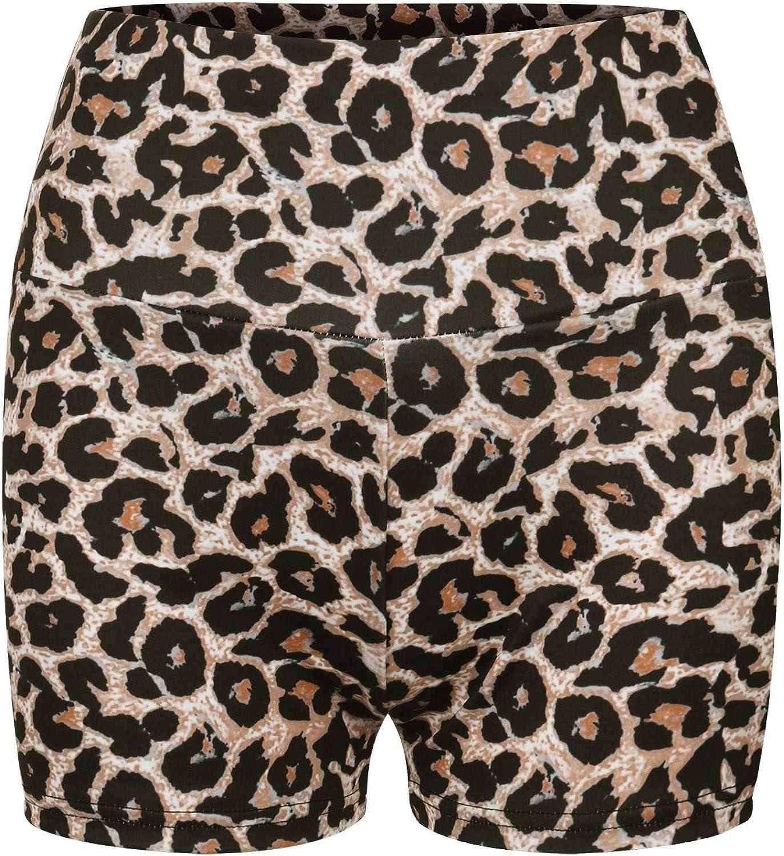 Junjie Pantalones Cortos para Yoga Estampado de Leopardo Leggins Push Up Mujer BaratosTalle Alto Gran Elásticos Mallas Deporte Mujer Gimnasio