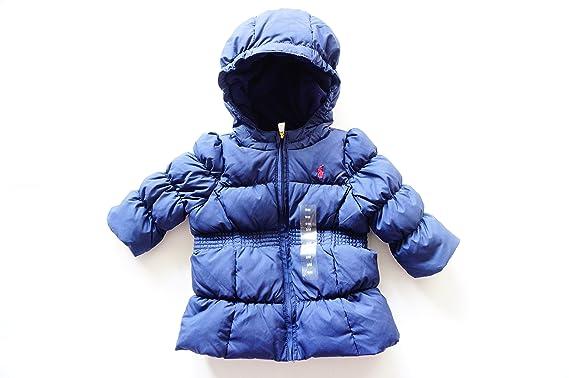 Ralph Lauren chaqueta para niña de plumón, azul con capucha para hombre: Amazon.es: Ropa y accesorios