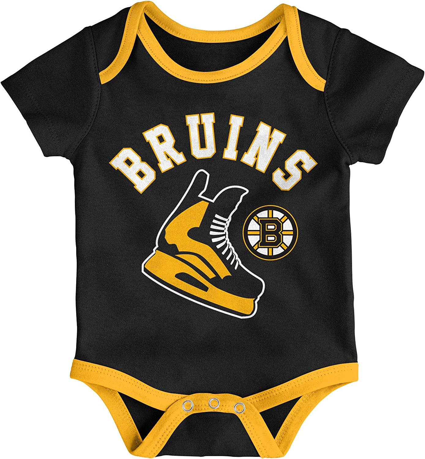 Boston Bruins Infant Even Strength 3-Piece Creeper Set