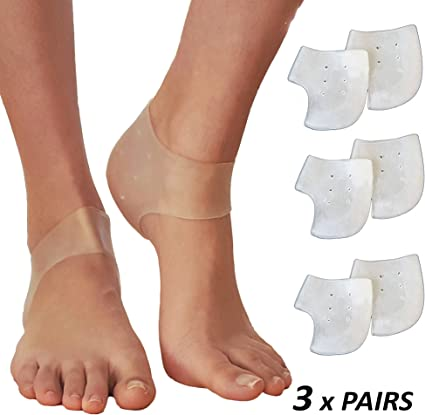 Heel Spur Pads For Plantar Fasciitis Gel Socks Silicone Cups Shoe Insert Protect