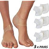 Plantar Fasciitis Inserts Heel Protectors – Silicone Gel Heel Cups for Bone Spur Relief (3 Pairs)