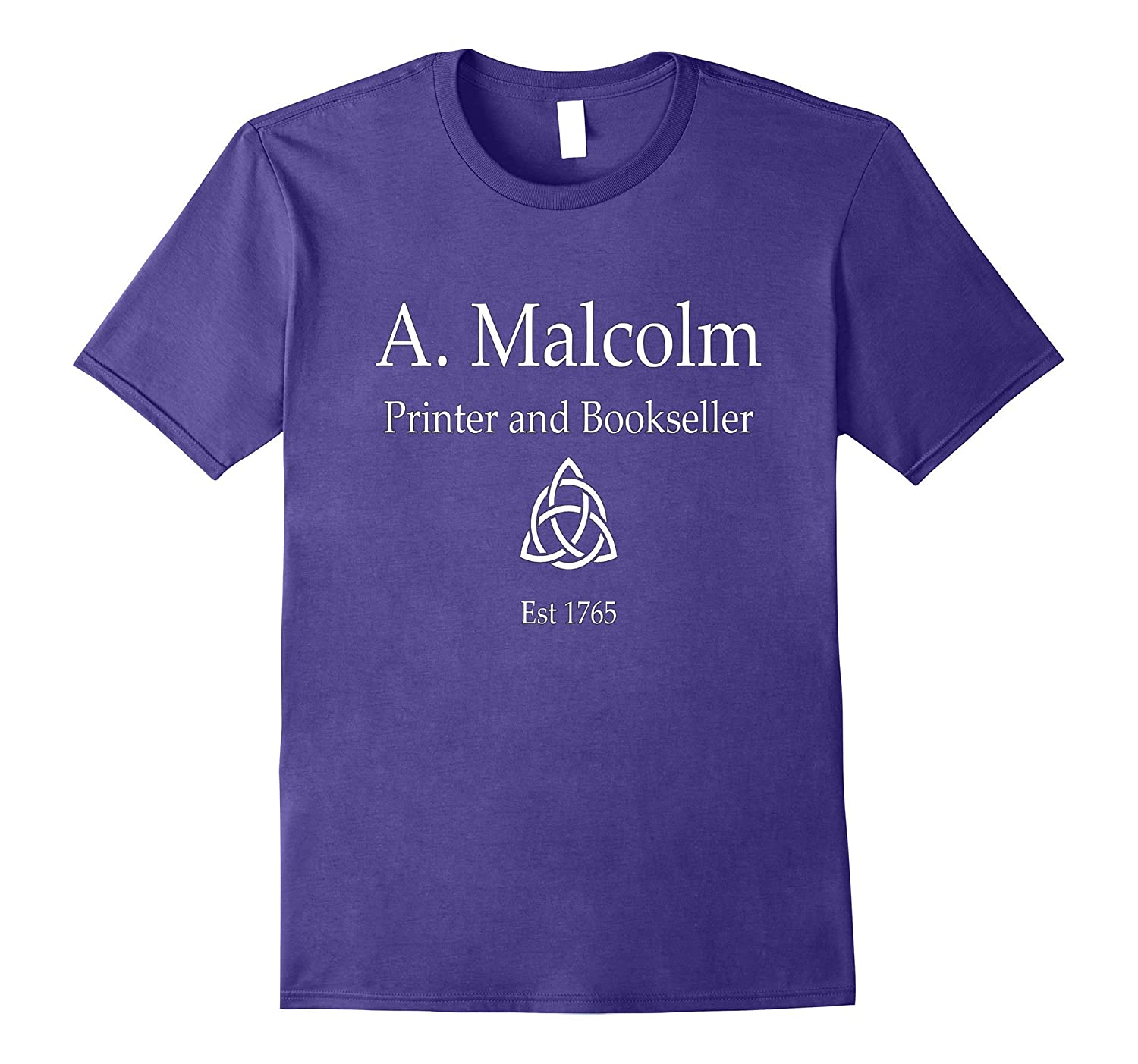 A. Malcolm Printer and Bookseller Gift Tee-FL
