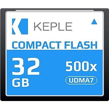 CF 32 GB Tarjeta de Memoria Compact Flash 500x Velocidad 75 MB/s, R 98 MB/s W 46 MB/S UDMA 7 Compatible con Nikon D5, D4, D800, D810, D700, D300; ...