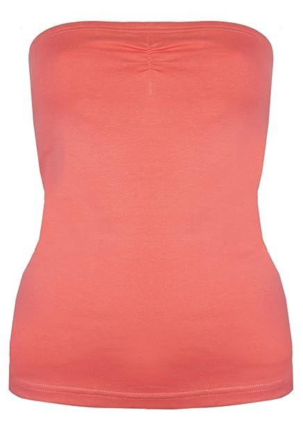 Brody & Co® camiseta palabra de honor de mujer con sujetador interior. Es perfecta para el verano e ir a la playa: Amazon.es: Ropa y accesorios