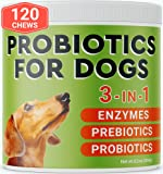 Pawfectchow Probiotics for Dogs - 120 Advanced Allergy Relief Dog Probiotics Chews + Digestive Enzymes - Relieves…