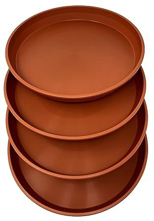 """Redonda de plástico plato bandeja 16 """"(varios colores) Juego de 4 unidades"""