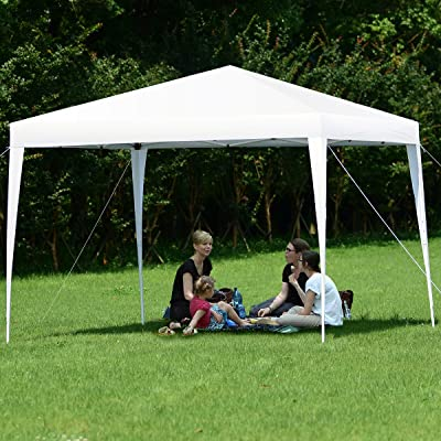 FANTASK Folding Garden Tent, Portable Awning, Outdoor Foldable Canopy, Lightweight Gazebo, Sun Protection and Rain Shelter, Waterproof and UV-Resistant Party Tent - White : Garden & Outdoor