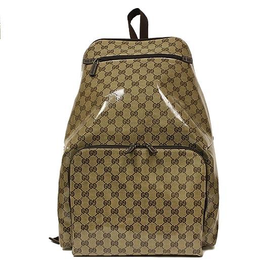 Gucci Crystal Collection - Revestimiento de lona y cuero mochila 179606: Amazon.es: Equipaje