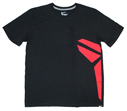 reputable site 7715f ef8d5 NIKE Mens Kobe Black Mamba Logo T-Shirt Black Red (2X-Large
