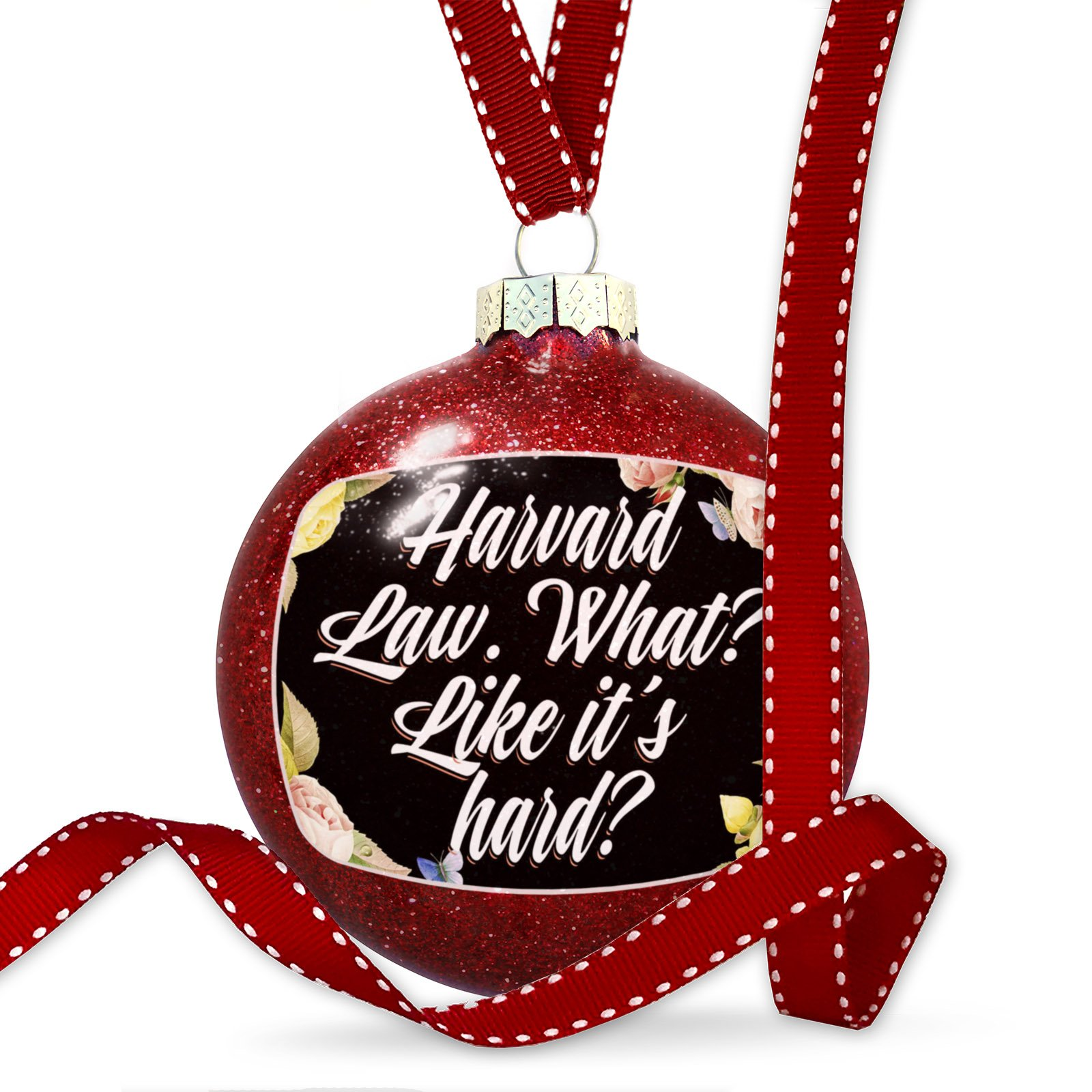 Christmas Decoration Floral Border Harvard Law. What? Like it's hard? Ornament