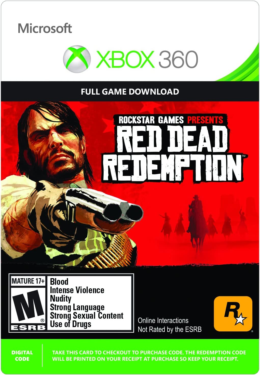 Amazon com: Red Dead Redemption - Xbox 360 Digital Code
