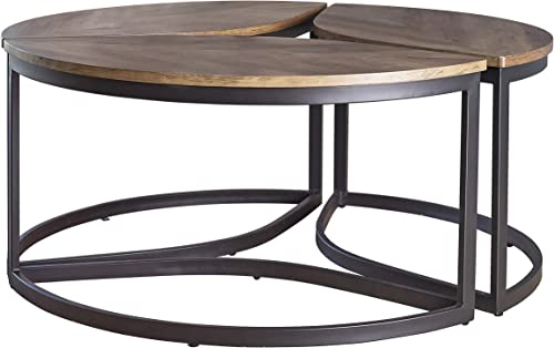 Editors' Choice: Coaster Home Furnishings Round Modular Walnut and Black Coffee Table