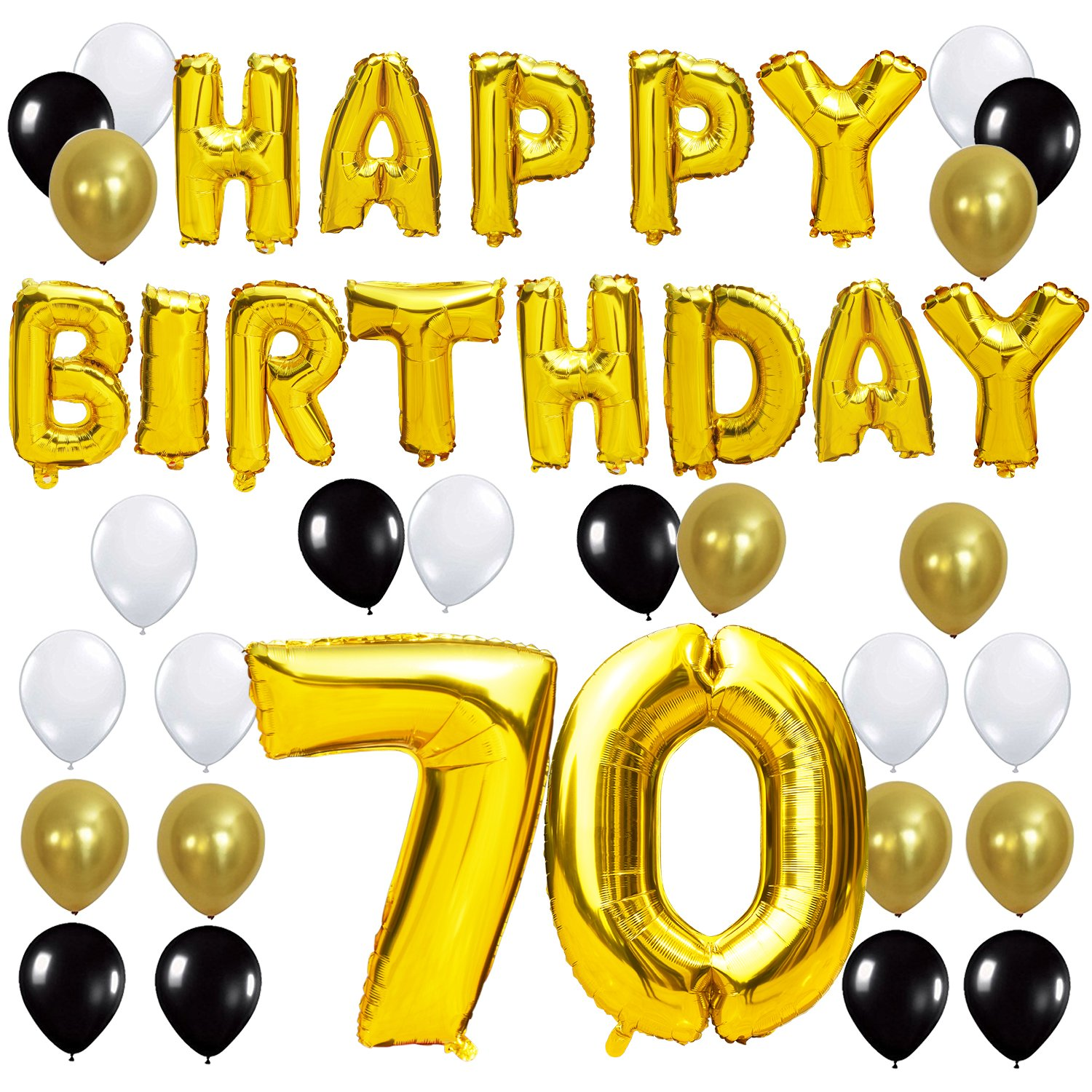 KUNGYO 70TH Birthday Party Decorations Kit