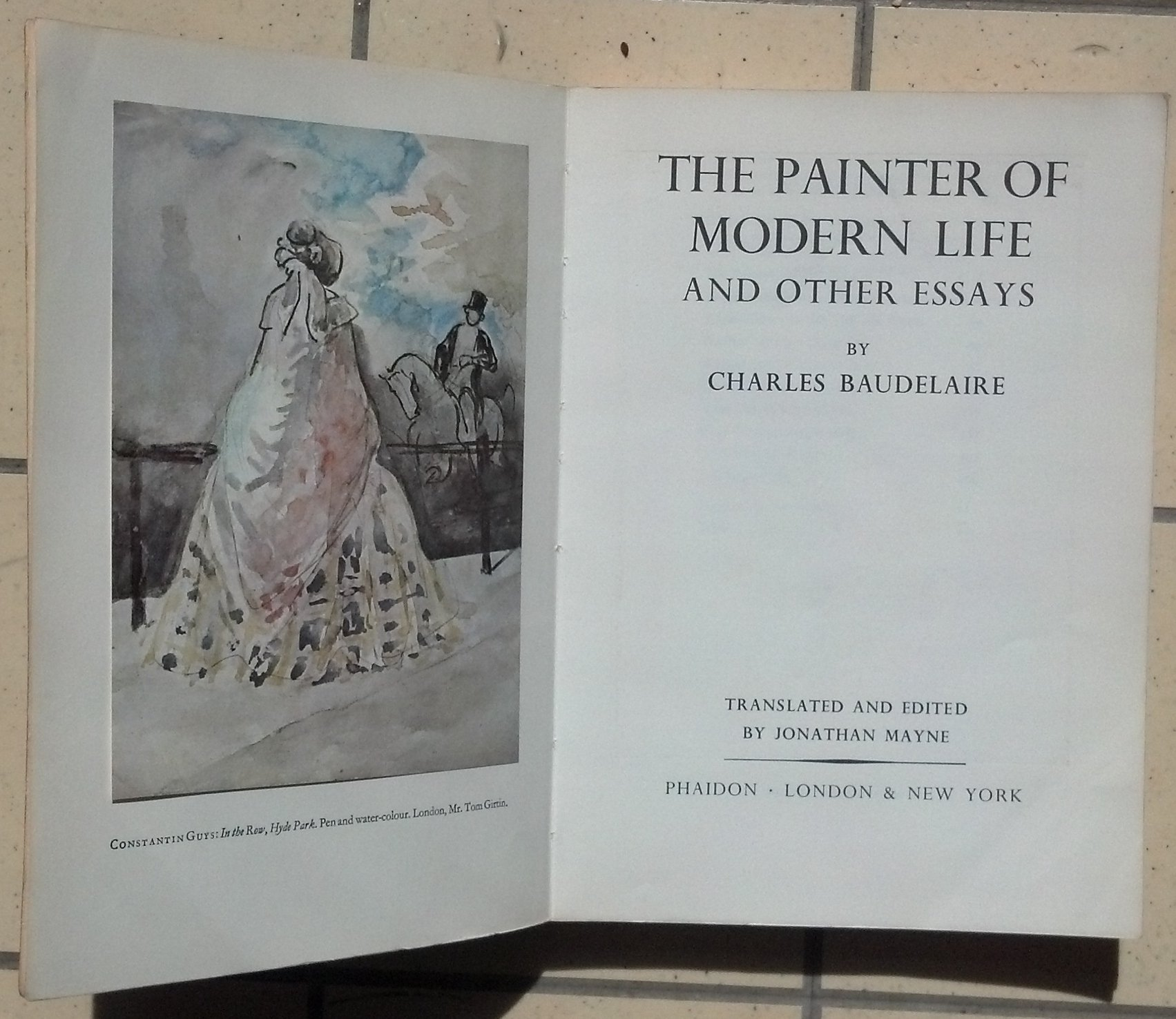 the painter of modern life and other essays citation The backdrop against which charles baudelaire wrote the essays collected in 'the painter of modern life'1 was one of extreme urban and social transformation.