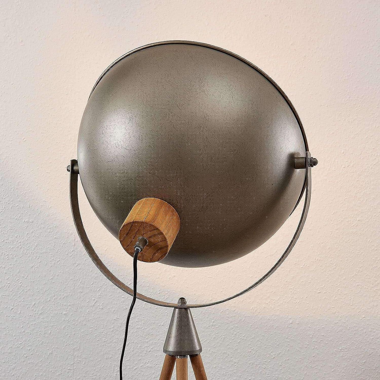 Lampe de Sol Modern, Industriel de Lindby pour Salon /& Salle /à manger 1 lampe,/à E27, A++ Lampe a Pied Lampadaire Sur Pied en Noir en M/étal e Lampadaire Scharlie a
