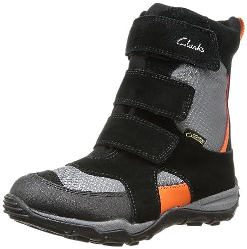 1bd11ebe13860 Clarks Sanice - Botas de Cuero para niño Negro Noir (Black Combi) 24   Amazon.es  Zapatos y complementos