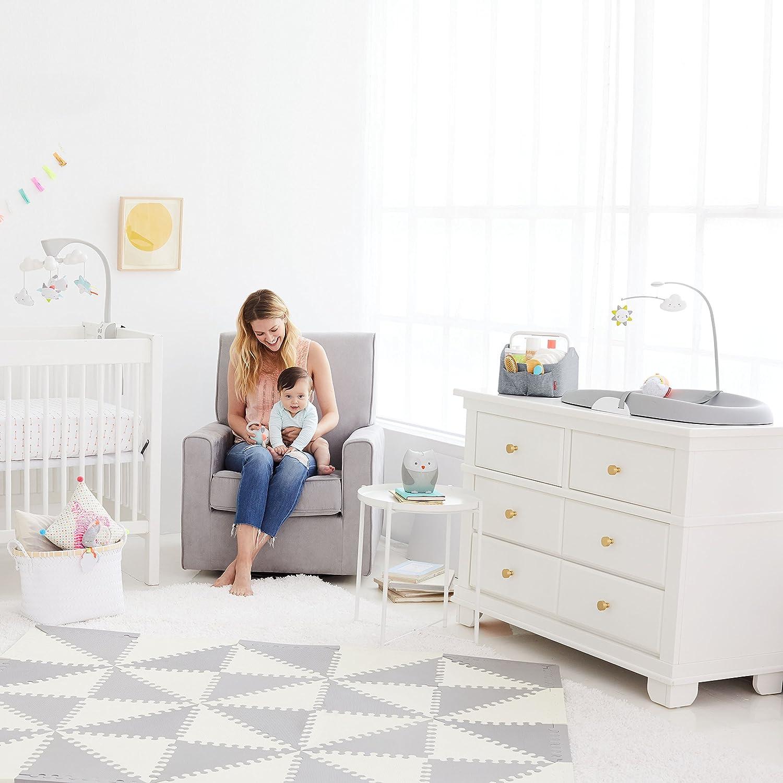 Skip Hop Nursery Style Light-Up Diaper Caddy Grey