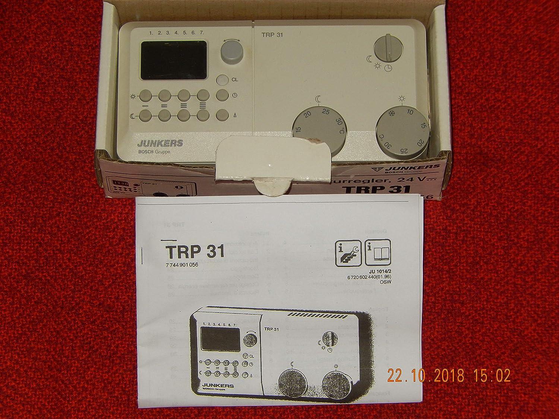 Junkers TRP 31 Termostato Con Temporizador Digital, testado, completamente Funcional, en Top Estado: Amazon.es: Iluminación