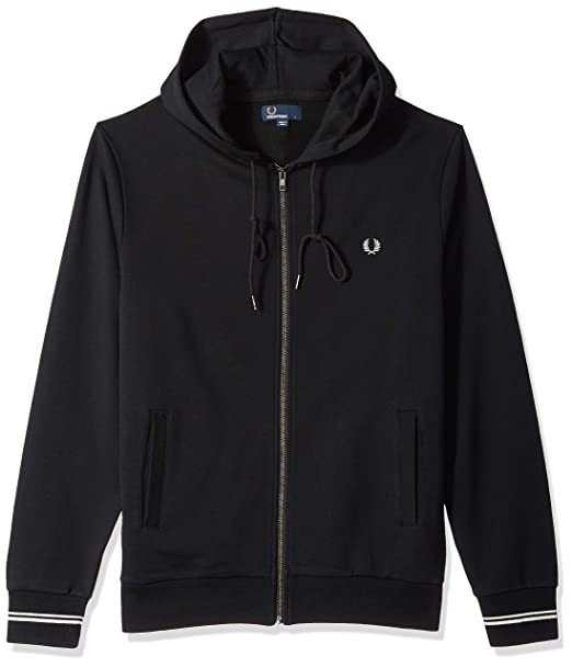 Fred Perry Hooded Sweatshirt, Chaqueta Deportiva: Amazon.es: Ropa y accesorios