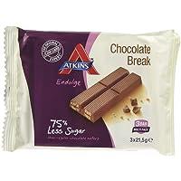 Atkins Endulge Chocolate Break 3 Bar Pack 64.5g (Pack of 14)
