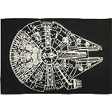 Star Wars Millennium Falcon Bath Rug, Black/Silver