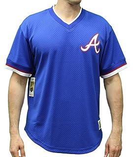 6b4ad599b Mitchell   Ness Atlanta Braves MLB Men s Game Winner Mesh Jersey Shirt