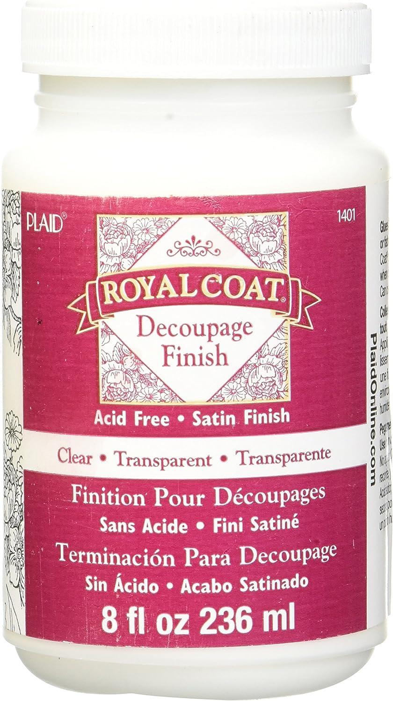 Plaid Royal Coat Decoupage (8-Ounce), 1401 Clear Satin Finish