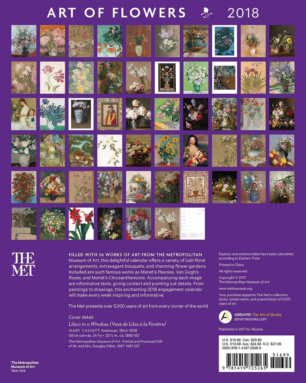 Art of Flowers 2018 Engagement Book: The Metropolitan Museum of Art:  9781419725265: Amazon.com: Books