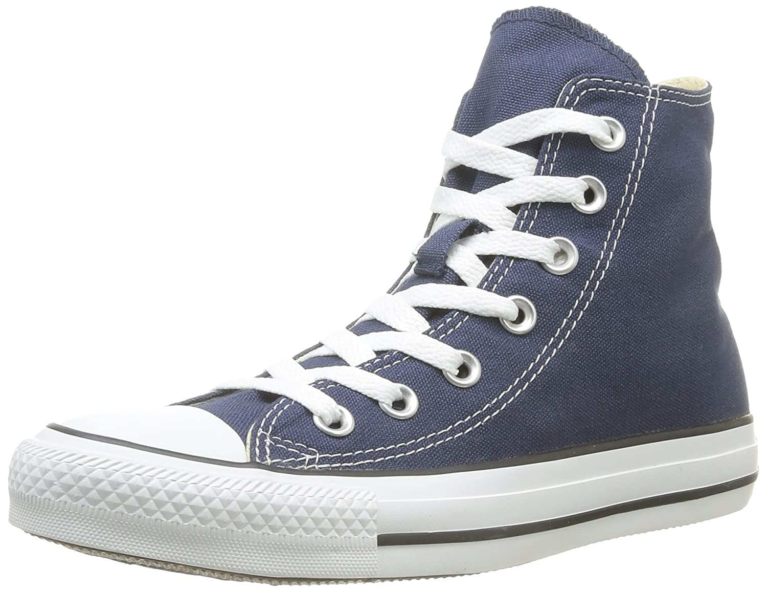 Converse Unisex Chuck Taylor All-Star High-Top Casual Sneakers in Classic Style and Color and Durable Canvas Uppers B071Y74M9F Mens 3.5 Womens 5.5|Navy