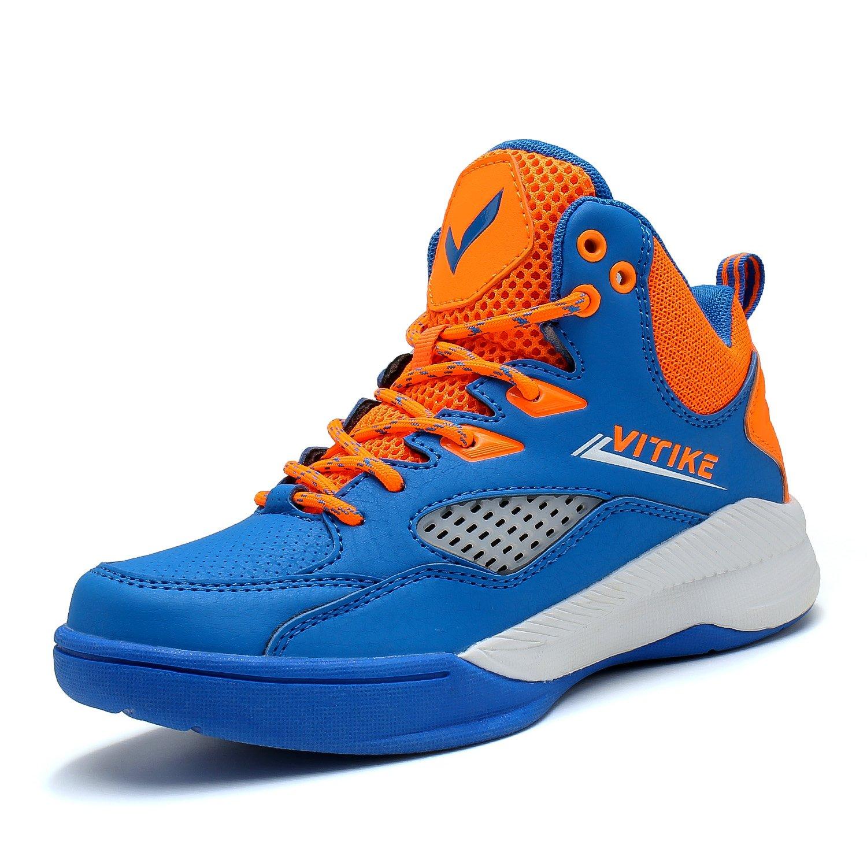Zapatillas de Baloncesto Niños Zapato Deportivas Para Niña Unisex niños Rojo Azul