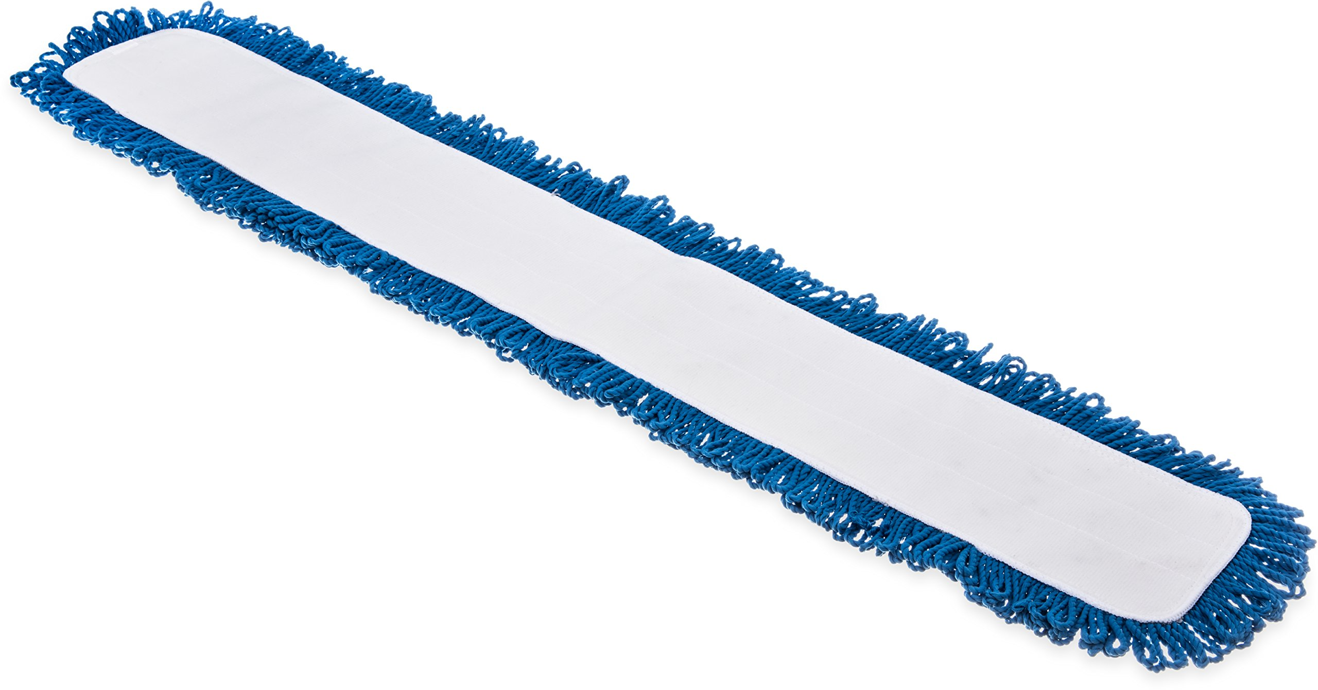 Carlisle 363313614 Polyester/Polyimide Blend Dry Mop Pad, 36'' Length, Blue (Pack of 12) by Carlisle (Image #1)