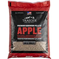 Traeger Grills Apple 100% All-Natural Hardwood Pellets for Grill, Smoke, Bake, Roast, Braise and BBQ, 20 lb. Bag