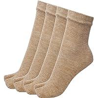 PinKit Women's Woolen Thumb Socks (Pack of 4) (Skin)