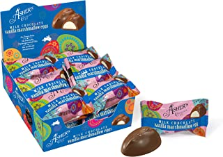 product image for Asher's Chocolates, Milk Chocolate Covered Eggs, Spring Collection of Easter Eggs, Small Batches of Kosher Chocolate, Family Owned Since 1892, 18 Wrapped Chocolate Eggs (Vanilla Marshmallow)