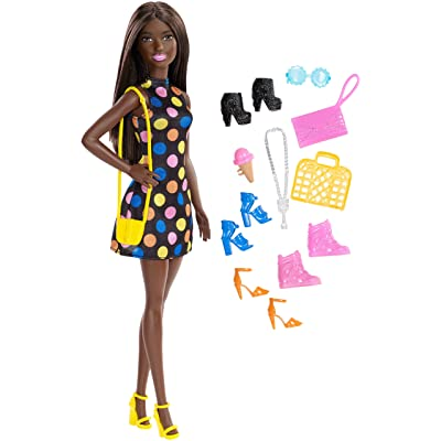 Barbie Doll and Accessories, Brunette: Toys & Games