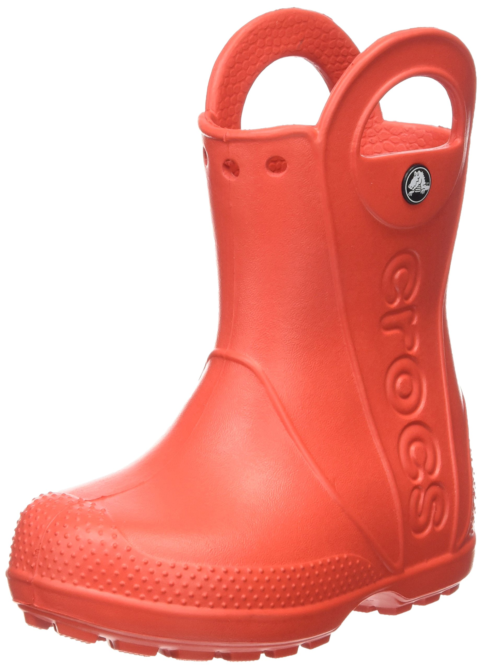 Crocs Kids' Handle It Rain Boot, Flame, 8 M US Toddler