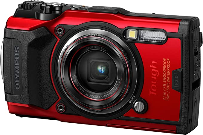 Appareil photo Olympus Tough TG-6, 12 mégapixels, 4K vidéo, 120 images/s, rouge