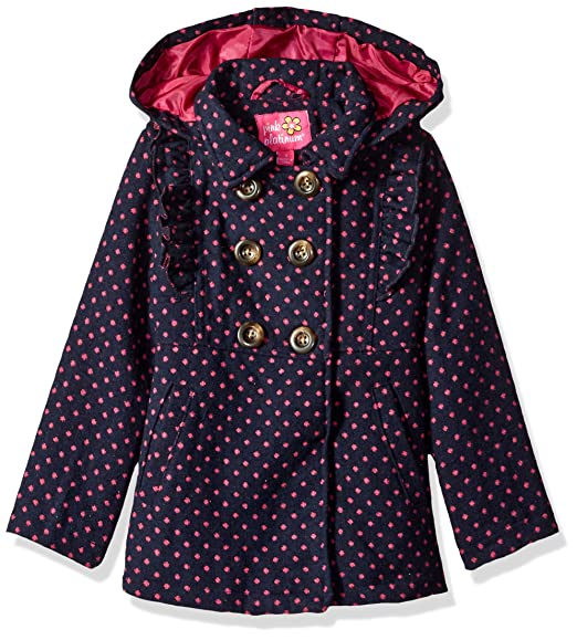 d253ddd59804 Amazon.com  Pink Platinum Girls  Ruffles Wool Jacket  Clothing