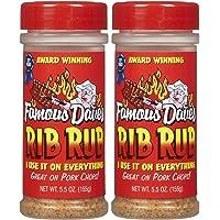 Famous Dave's Rib Rub, 5.5 oz, 2 pk