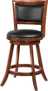 "Wildon Home Jackman 24"" Barstool in Dark Espresso [Set of 2]"